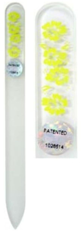 製作胚芽アプトBlazek(ブラジェク) ガラス製爪やすり ハワインアンMサイズ 140mm チェコ製 イエロー