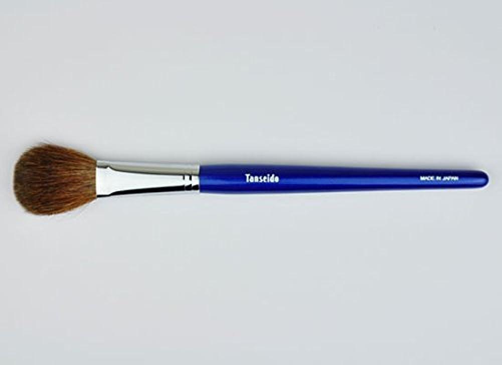 現代の予定分類する熊野筆 丹精堂 チークブラシ YAQ 17 青