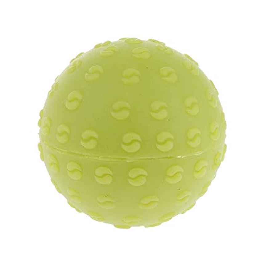 トレイハブ高度なマッサージボール 指圧ボール シリコーン トリガーポイント 足底筋膜炎 ヨガ 快適 全6色 - 緑, 説明のとおり