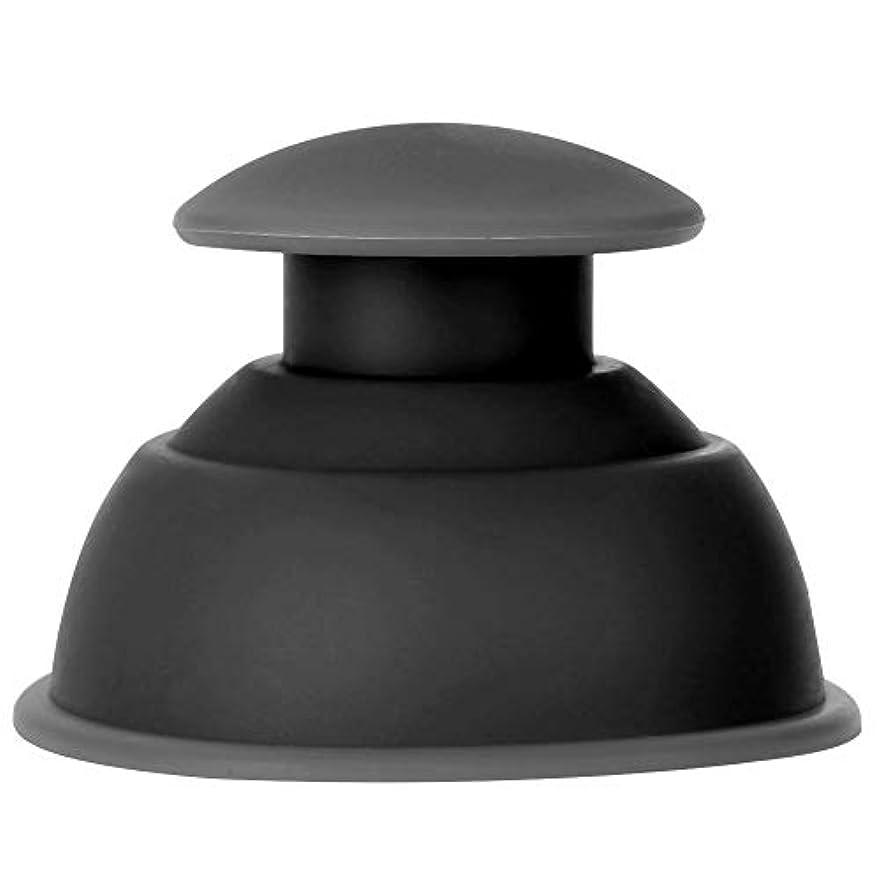 7種類のカッピングカップマッサージセット、シリコーン水分吸収剤アンチセルライトバキュームによる 全身疲れの緩和(ブラック)