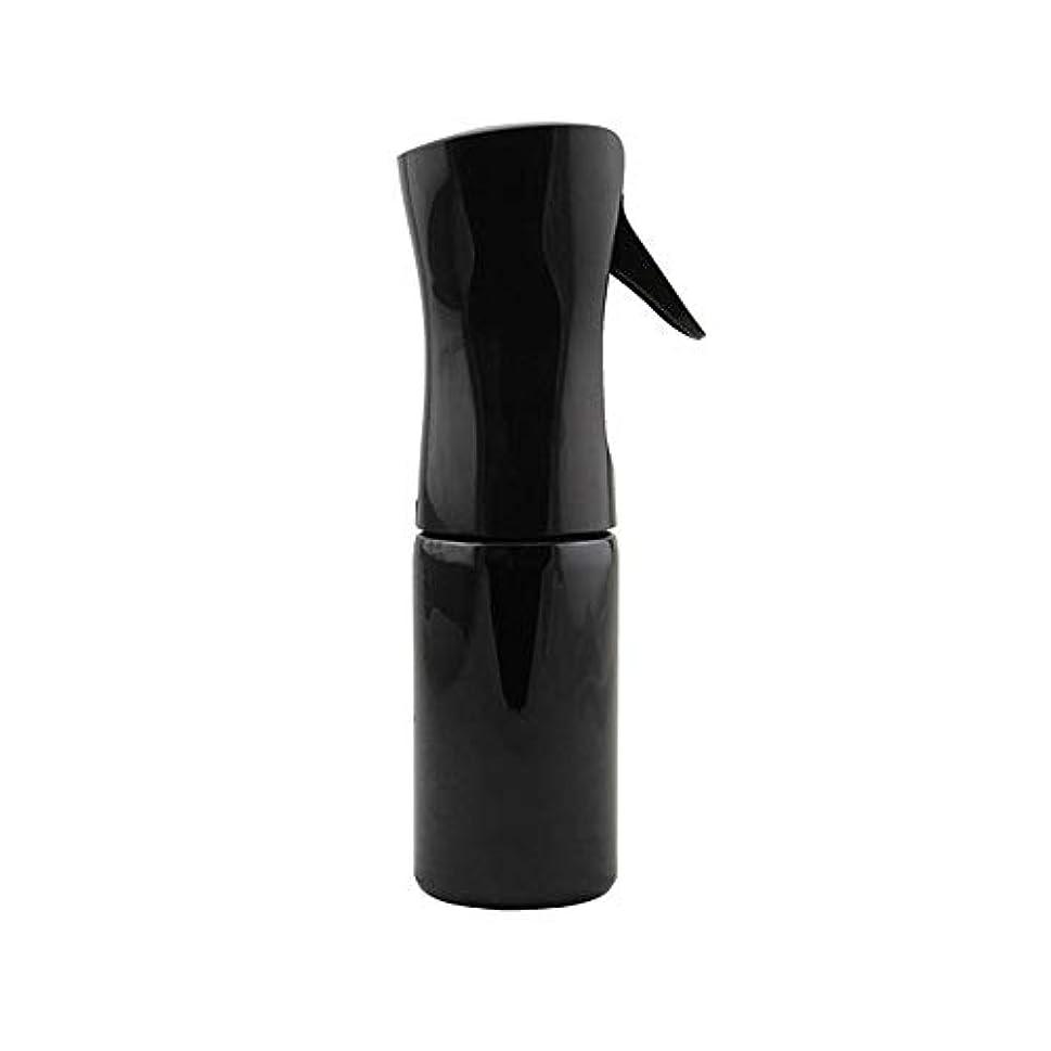 曲げるオーナメント隣接するヘアスプレーボトル細かいミストスプレー、ヘアスタイリストスタイリングツールSPA機器じょうろ,Black