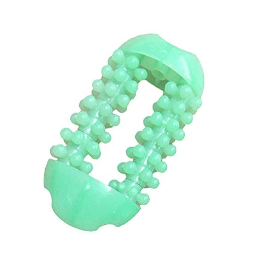 肩をすくめるコーナー異形ROSENICE Acupoint経絡プラスチックローラーマッサージャーのための簡単なグリップマッサージャー(色ランダム)