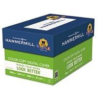 コピー機デジタルカバーストック、100ポンド。、81/ 2x 11、フォトホワイト、1500シートby : Hammermill