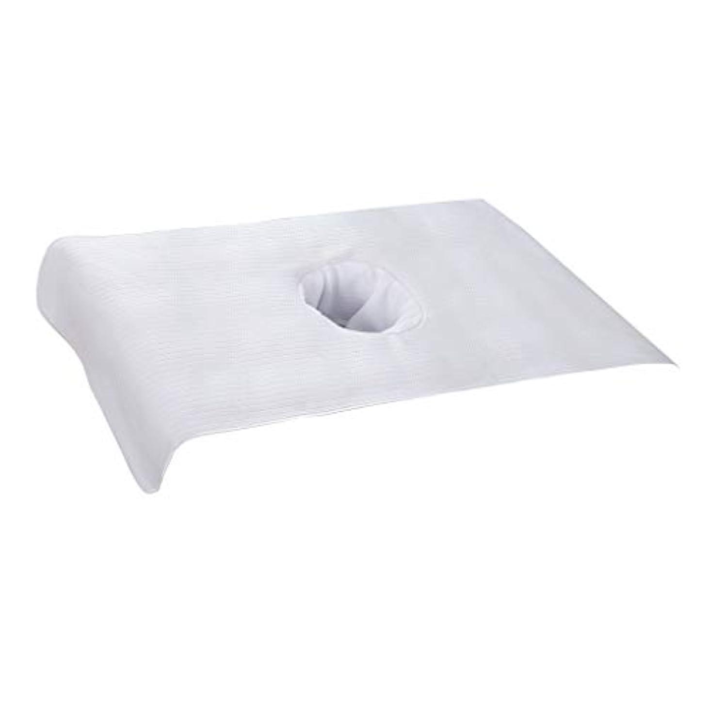 ウッズ色合い引き潮美容ベッドカバー マッサージベッドカバー 治療シーツ ポリエステル生地 高品質 - 白