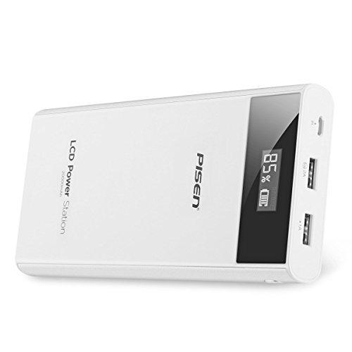 PISEN 20000mAh 携帯充電器 モバイルバッテリー 超大容量 持ち運び充電器 2USB出力...