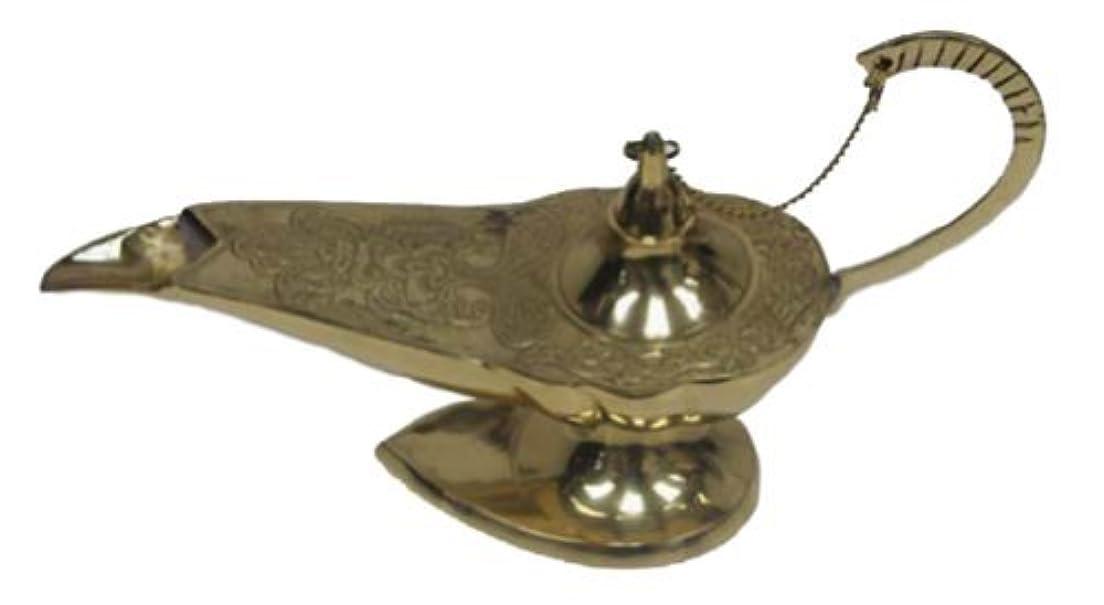 公然と中羊のIndia 魔神華やかなアラジンのランプ香炉