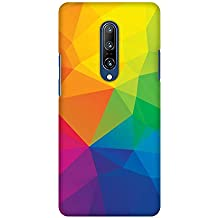 AMZER Slim Designer Printed Light Weight Back Cover for OnePlus 7 Pro - Polygon Fun 1