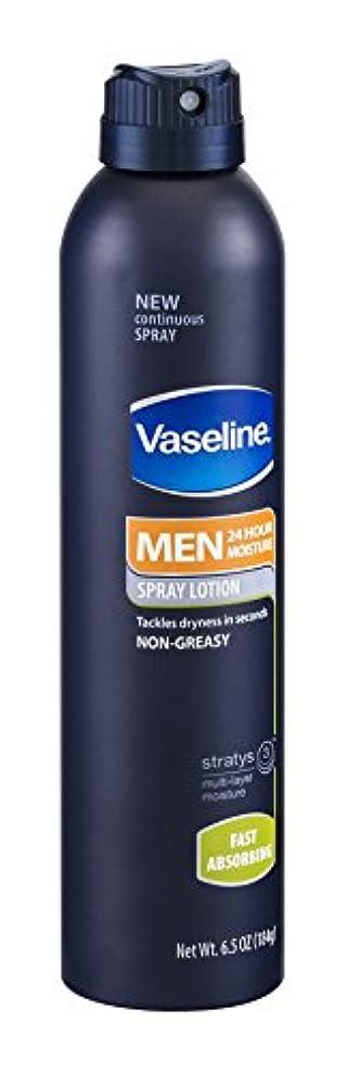 動詞休憩するデザート(アメリカ直送)ヴァセリン 男性用 べとつかない 24時間保湿 スプレーローション 184g Vaseline MEN 24Hours Moisture Spray Lotion Fast Absorbing 6.5oz