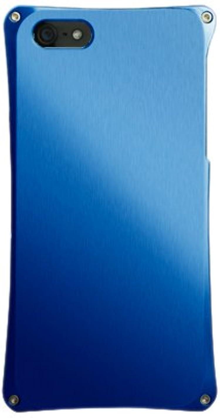ピケヘビーヤングABEE iPhone5対応 カケンアルマイト 【超肉厚5.4ミリ硬質アルミニウム採用 アルミジャケット】 ブルー MA-5X02-BLK