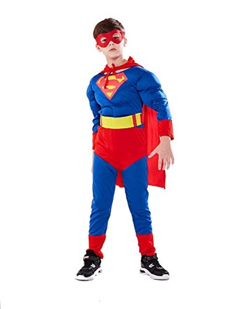 事業アトミックさておきS&C Live ハロウィンコスチューム キッズコスチューム スーパーマンコスプレ3点セット 男の子向き ボーイズ マント付き アイマスク付 戦っている感 かっこいい マッチョ 筋肉服 スーパーマン全身衣装着ぐるみ スーパーマン筋肉服 キッズ 子供 マーベルヒーローコスチューム スーパーマンコスチューム 子供 オールインワン クリスマス/ハロウィン/新年会/忘年会コスプレイベント仮装 学園祭文化祭仮装#171205 (スーパーマン, ?)