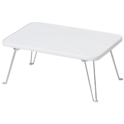 不二貿易 ミニ テーブル 幅45x奥行30cm 脚部 折りたたみ ホワイト 85590