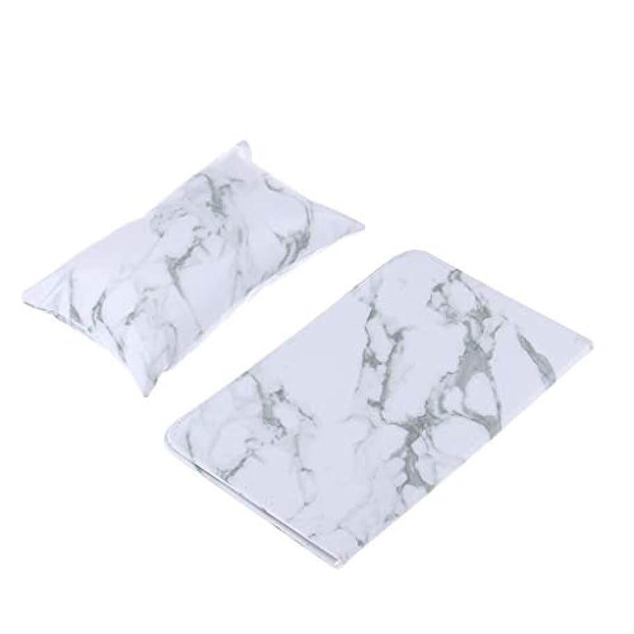 リースに話す有益ネイルアート アームレスト ハンドクッション ピロー 折りたたみ式 パッド PUレザー ソフト 2色選べ - 白