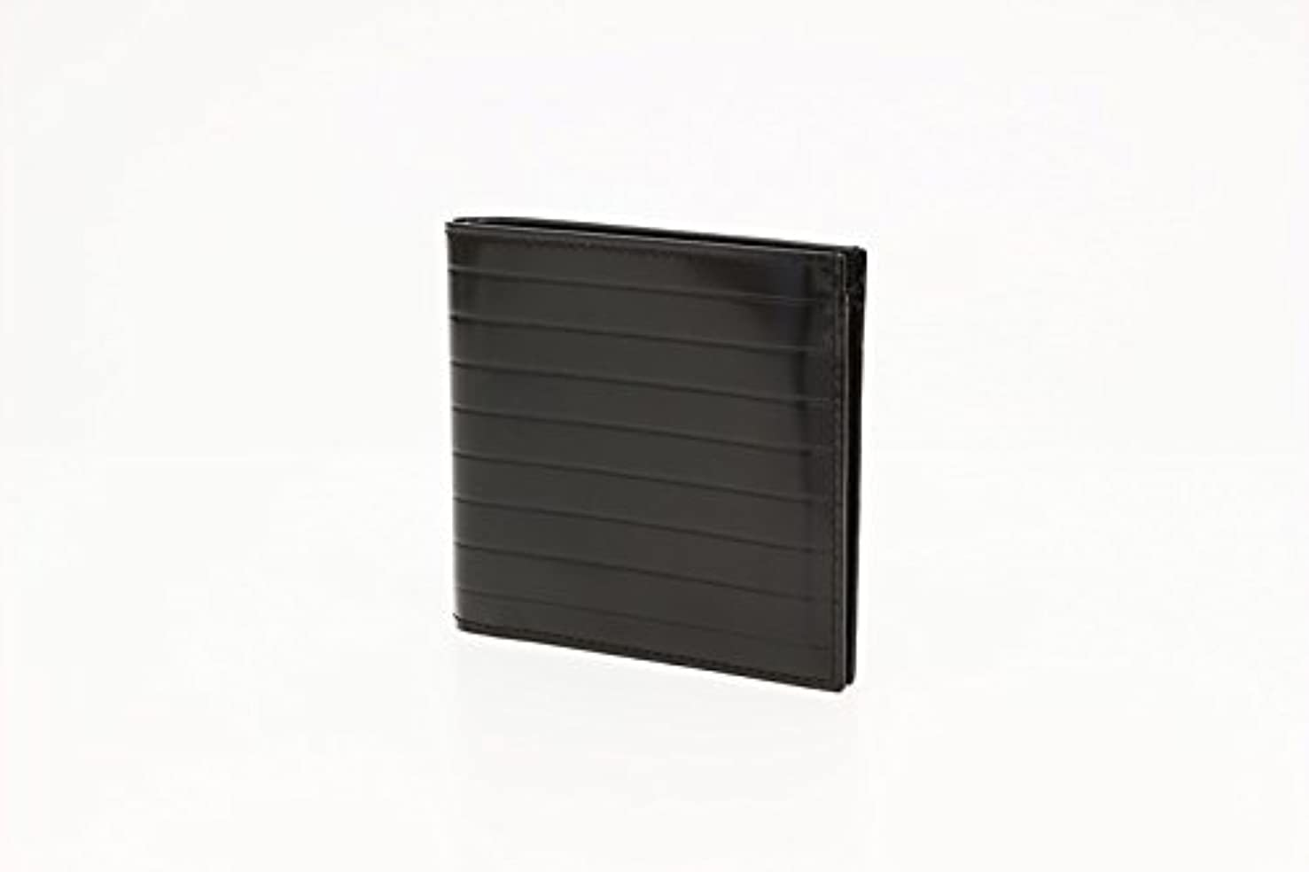ヘルシーメッシュ上に築きます(ディオール) Dior メンズ 二つ折り財布 札入れ 小銭入れ無 レザー ブラック 中古