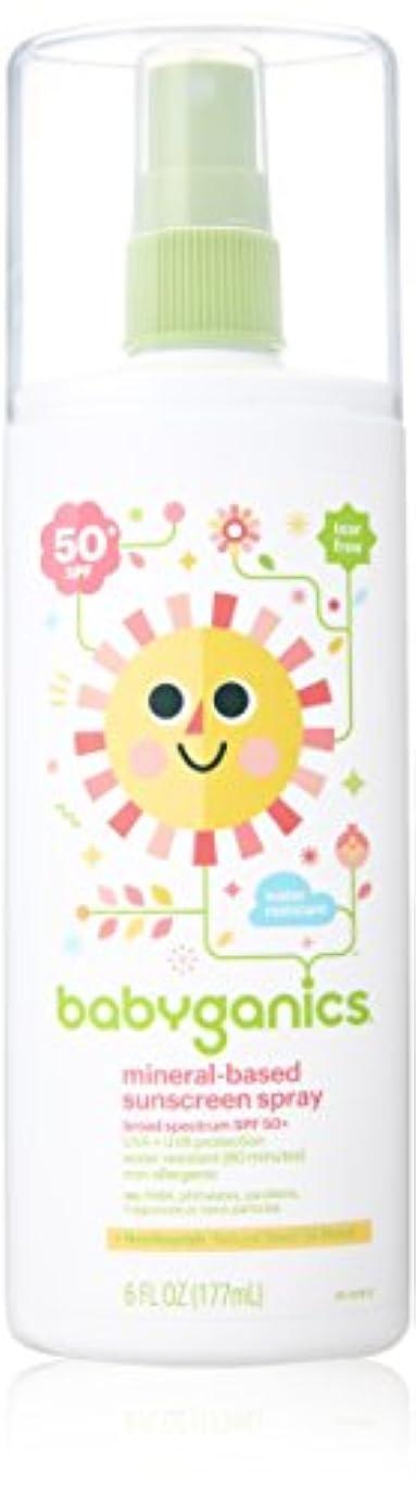 汚いメキシコ日常的にBabyGanics - 日焼け止めスプレー ミネラルベース 無香料 50 SPF - 177ミリリットル (6オンス)