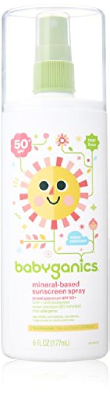 憂慮すべき喉が渇いたオプションBabyGanics - 日焼け止めスプレー ミネラルベース 無香料 50 SPF - 177ミリリットル (6オンス)