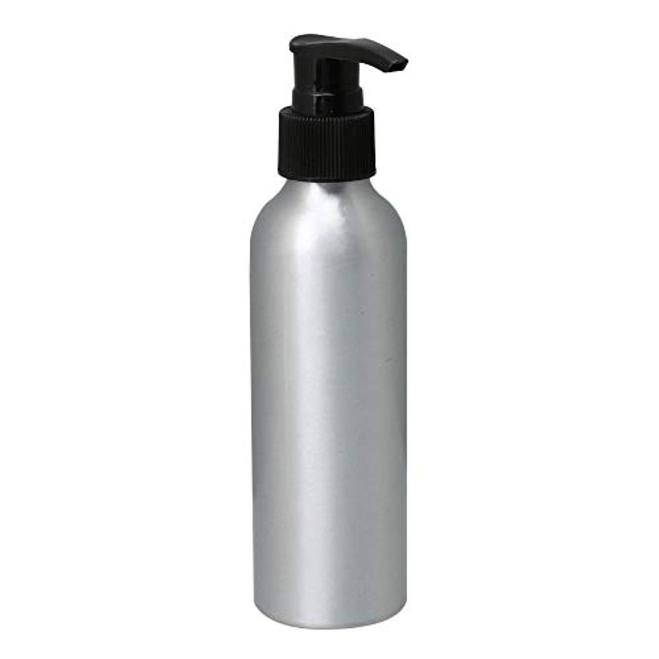 反射感嘆カップルポンプボトル 150ml コスメ用詰替え容器 詰め替え用ボトル アルミボトル 繰り返し使用 噴霧器 アルミボトル 黒ポンプヘッド