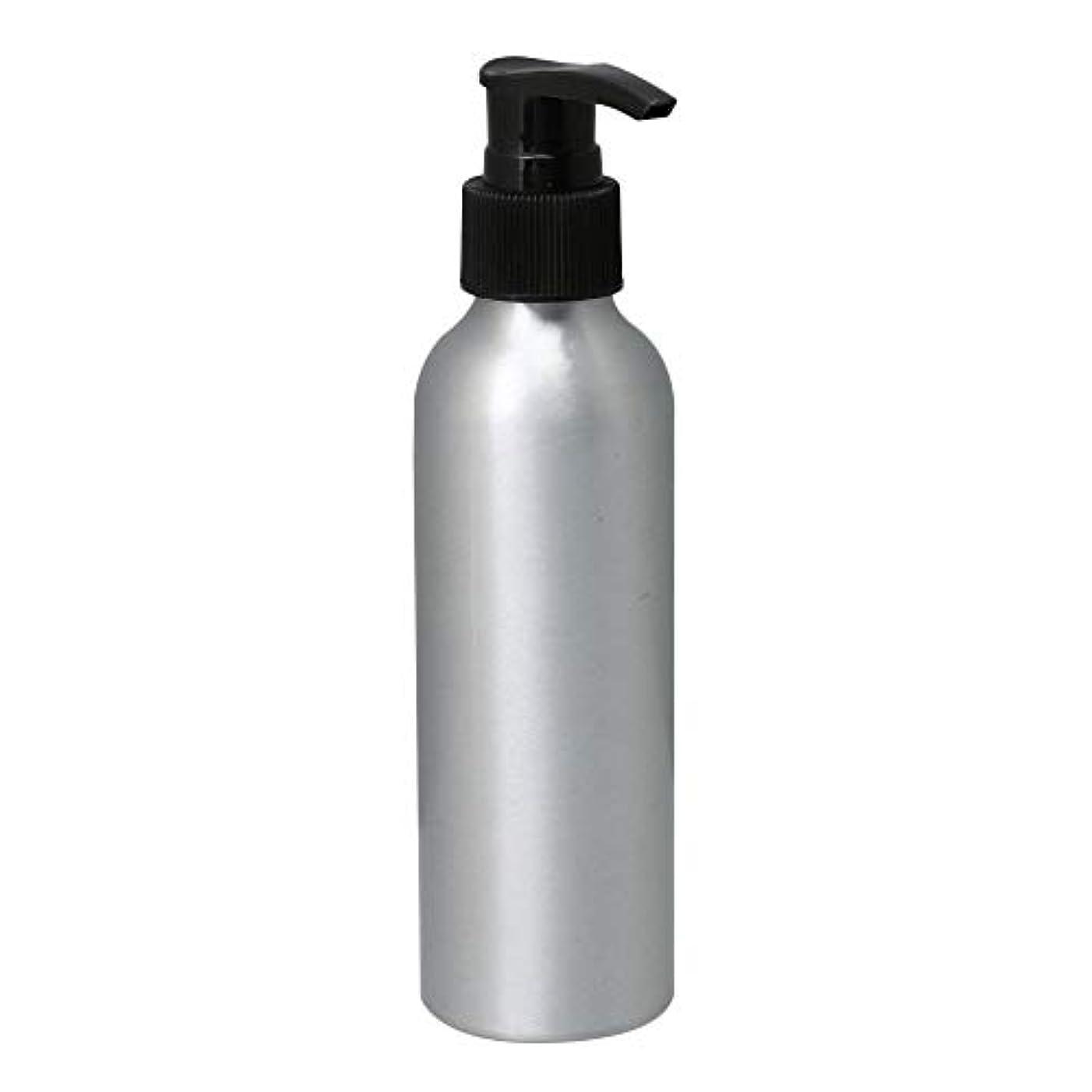 なる拒否シリンダーポンプボトル 150ml コスメ用詰替え容器 詰め替え用ボトル アルミボトル 繰り返し使用 噴霧器 アルミボトル 黒ポンプヘッド