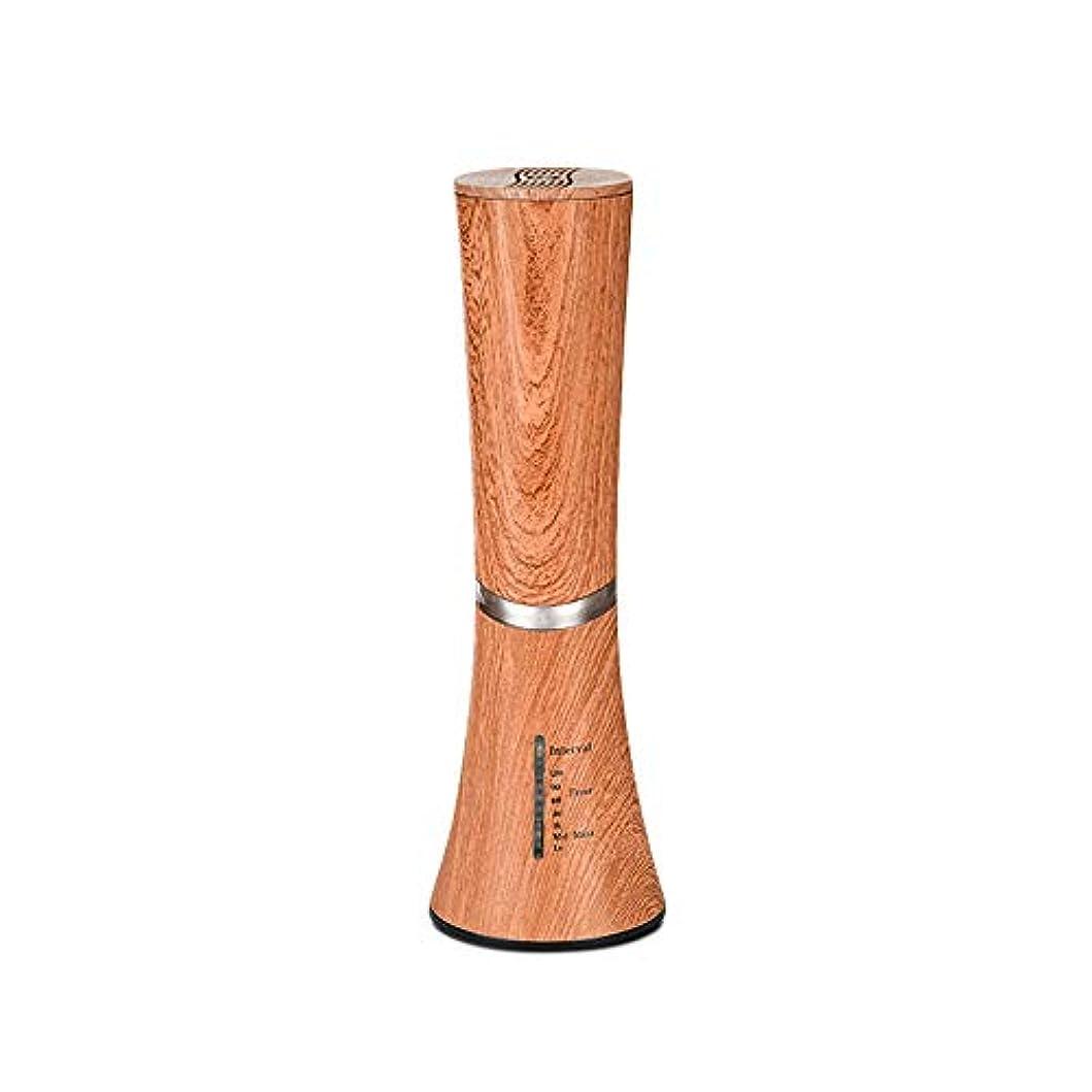 Caseceo 無水 アロマ エッセンシャルオイル ネブライザーディフューザー断続モードと連続モードフクシア付 ダークウッドの木目