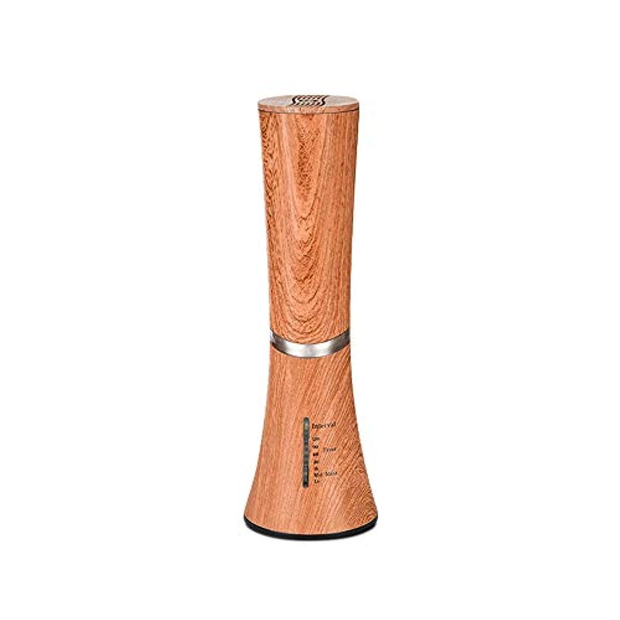 解き明かす尊厳創傷Caseceo 無水 アロマ エッセンシャルオイル ネブライザーディフューザー断続モードと連続モードフクシア付 ダークウッドの木目