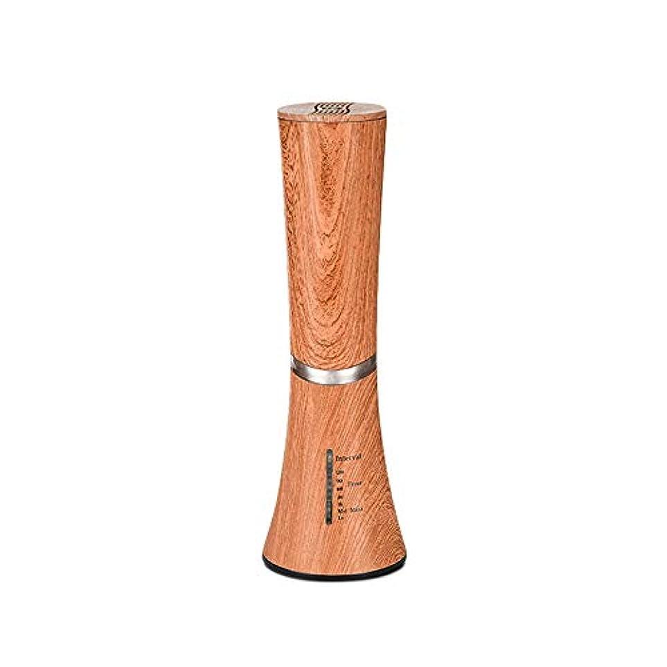 知恵すぐにかけるCaseceo 無水 アロマ エッセンシャルオイル ネブライザーディフューザー断続モードと連続モードフクシア付 ダークウッドの木目
