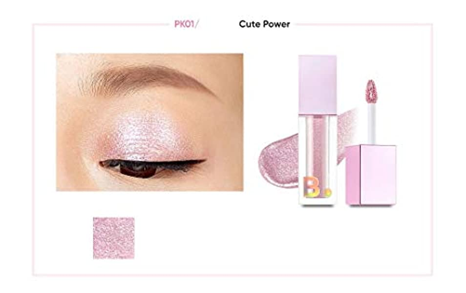 banilaco アイクラッシュスーパーキラキラリキッドシャドウ #PK01 Cute power/Eyecrush Super Bling Glitter Liquid Shadow 4.5g # PK01 Cute...