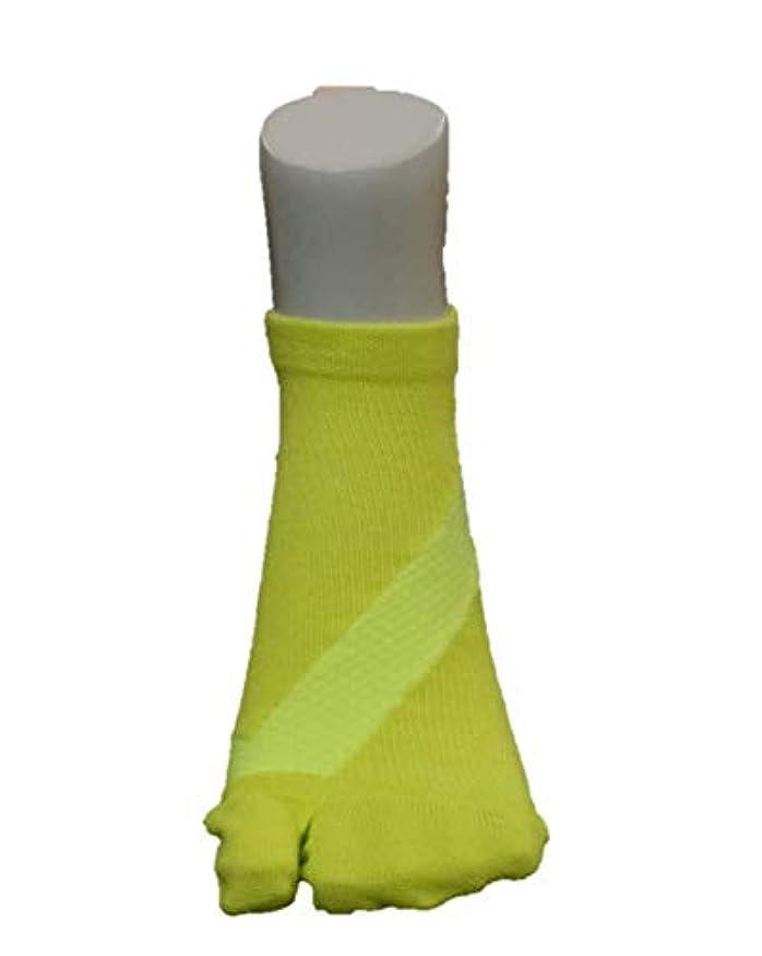 固有のモディッシュ苦いさとう式 フレクサーソックス アンクル 黄色 (M 24-26)