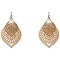 Gold Tone Filigree Double Layered Earrings