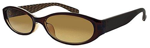 (PAGEBOY) サングラス py6363-2 ブラウン オーバル型 レディース UVカット 紫外線対策 py6363 ページボーイ 女性用 ドット柄 水玉