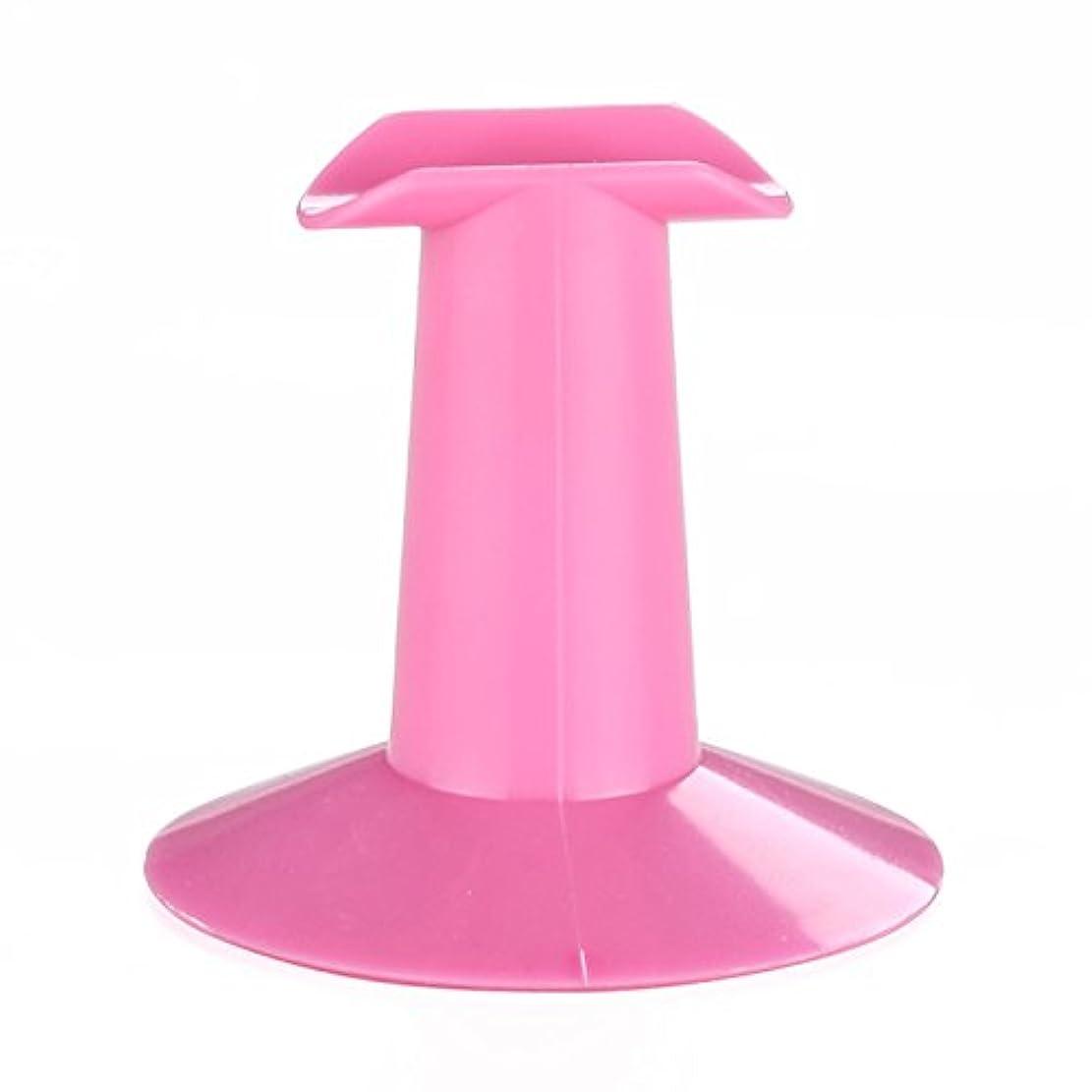 小屋四回値するGaoominy 5xハードプラスチック製ピンクのフィンガースタンドサポート レスト ネイルアートデザイン 絵画サロンDIY