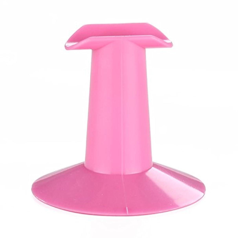 顕微鏡チェス戦士Gaoominy 5xハードプラスチック製ピンクのフィンガースタンドサポート レスト ネイルアートデザイン 絵画サロンDIY