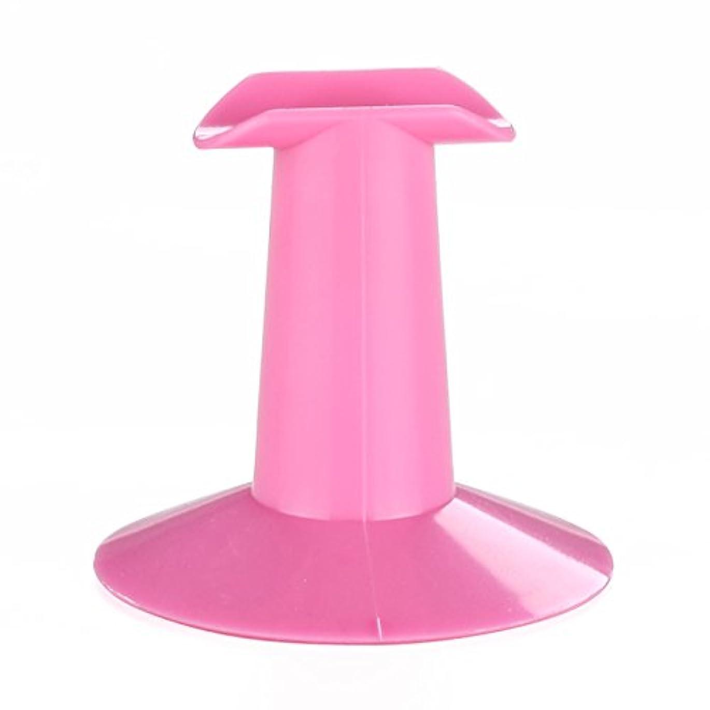 海賊ふける倍増CUHAWUDBA 5xハードプラスチック製ピンクのフィンガースタンドサポート レスト ネイルアートデザイン 絵画サロンDIY