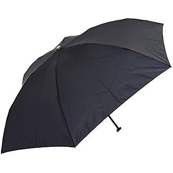 超軽量105g 軽くて強いカーボン骨×撥水効果の高いデュポン社のテフロン加工生地使用 55cm 3段式 折りたたみ ミニ傘 (黒)