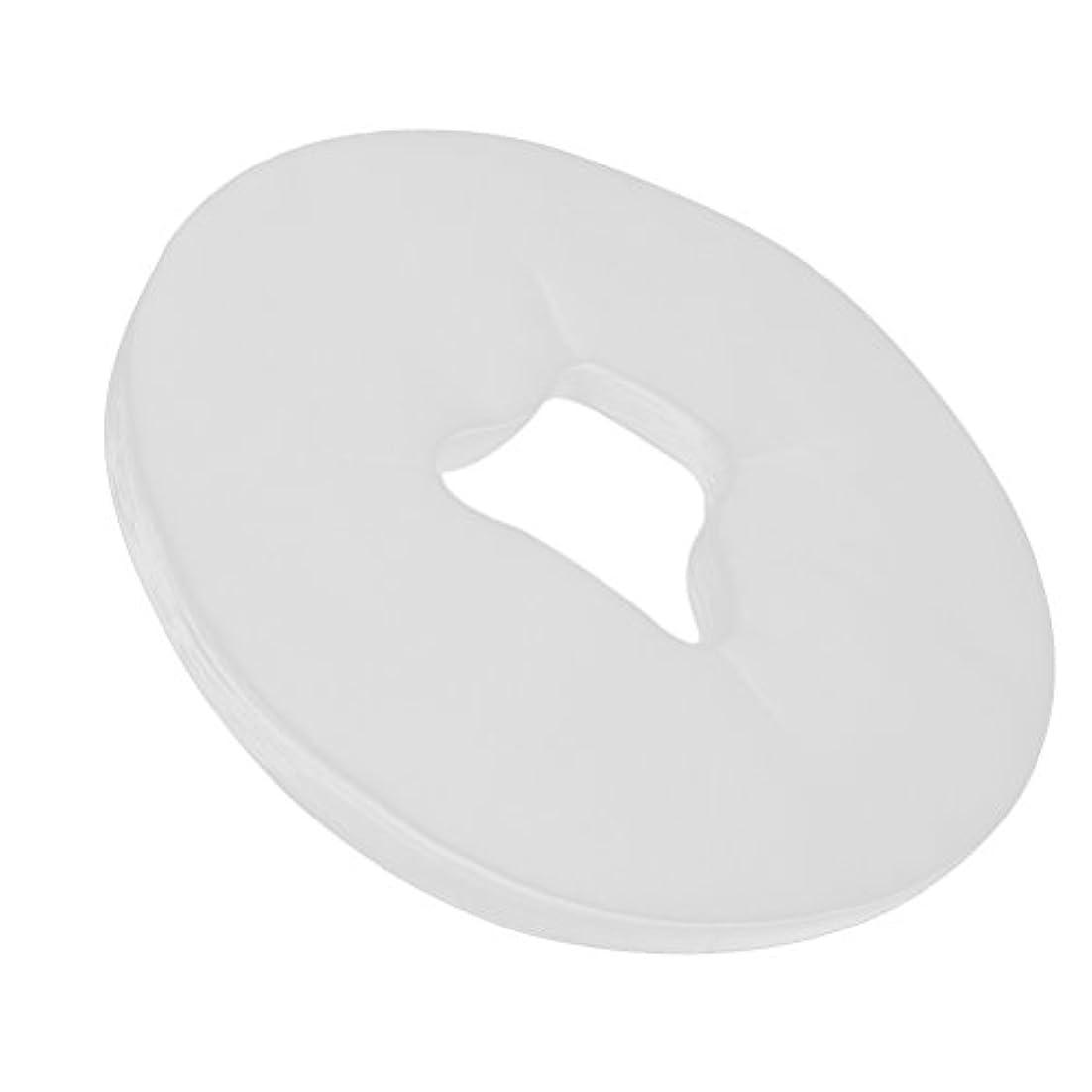 Healifty 100Pcs使い捨て可能な表面揺りかごはマッサージのテーブルのためのマッサージの表面残りカバーを覆います