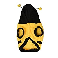 FidgetGear かわいい蜂ペット犬のコートアピール子犬フリースパーカー服ペット洋服クリスマス S
