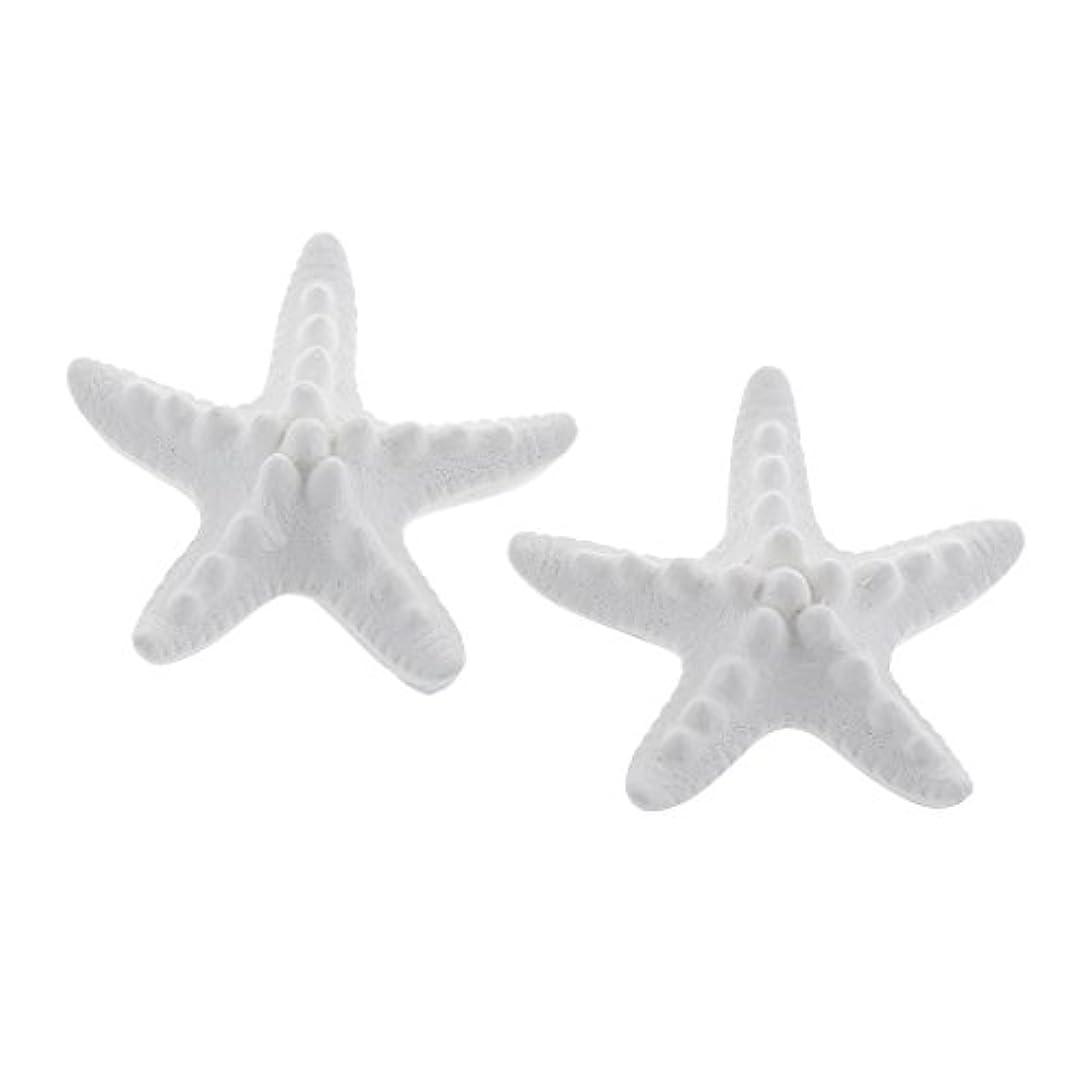 ハミングバード定規リゾートFLAMEER 家の装飾のための2個のSeastarの香りの芳香の石DIYの精油の拡散器