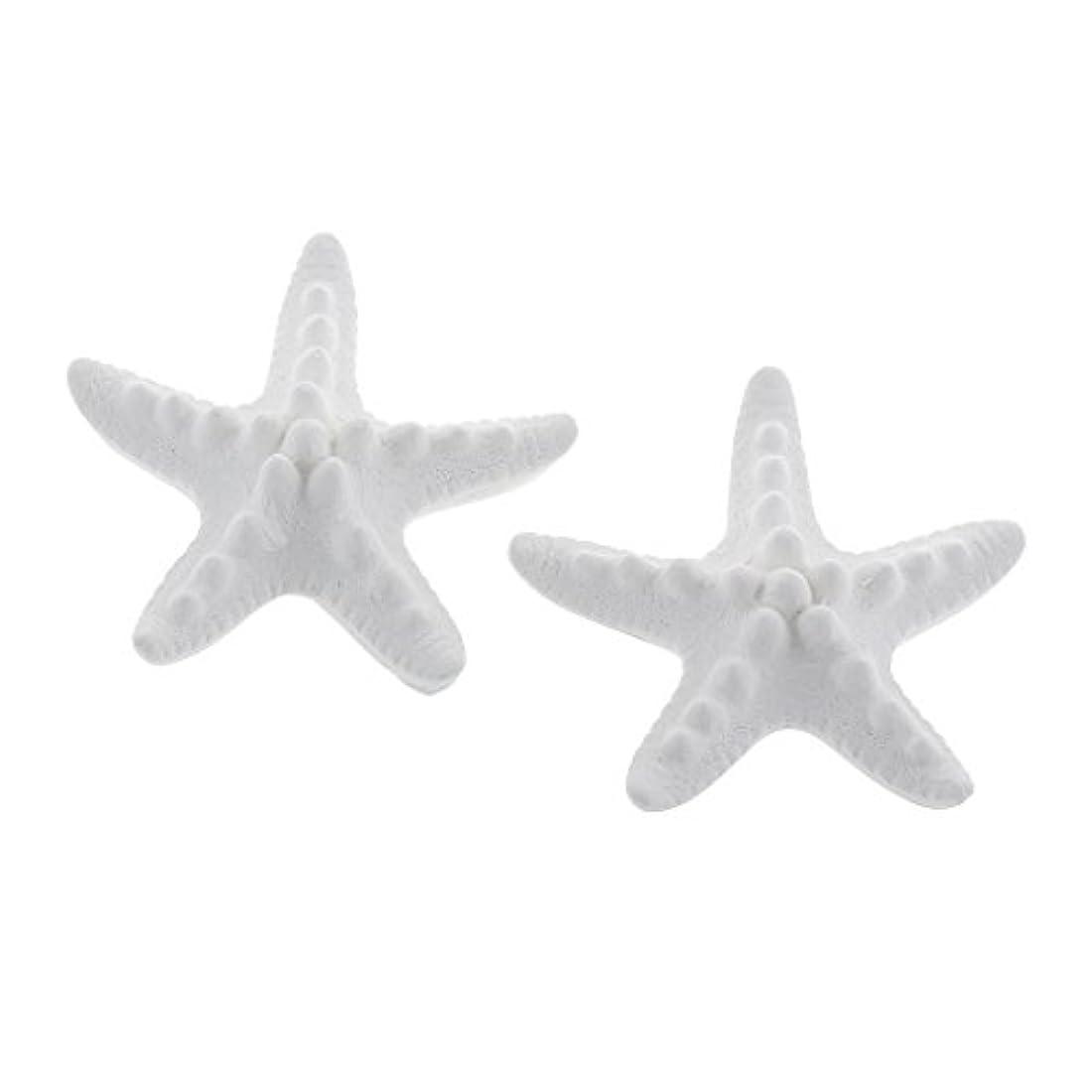 エッセンスデコレーション良性家の装飾のための2個のSeastarの香りの芳香の石DIYの精油の拡散器