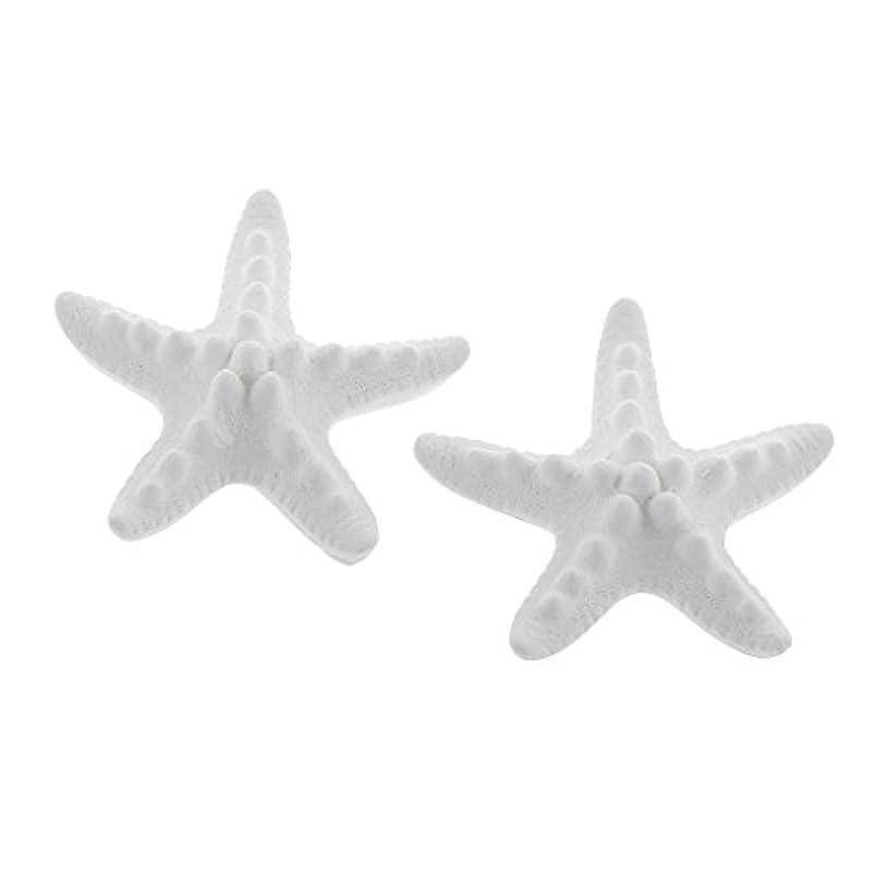 温かい分布またFLAMEER 家の装飾のための2個のSeastarの香りの芳香の石DIYの精油の拡散器