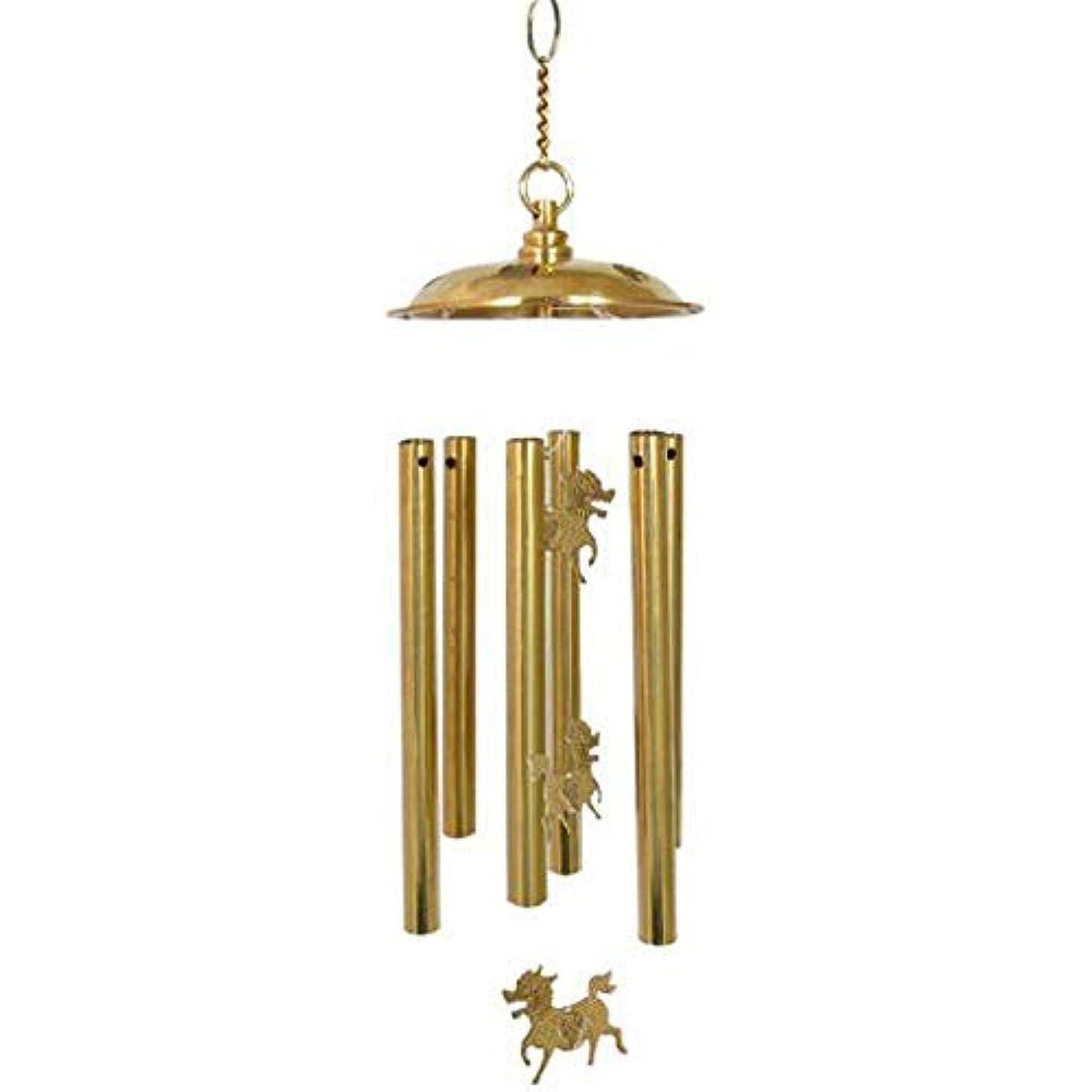 聴くインタフェースカプセルQiyuezhuangshi 風チャイム、ホーム銅風チャイム、ゴールド、全身について48センチメートル,美しいホリデーギフト