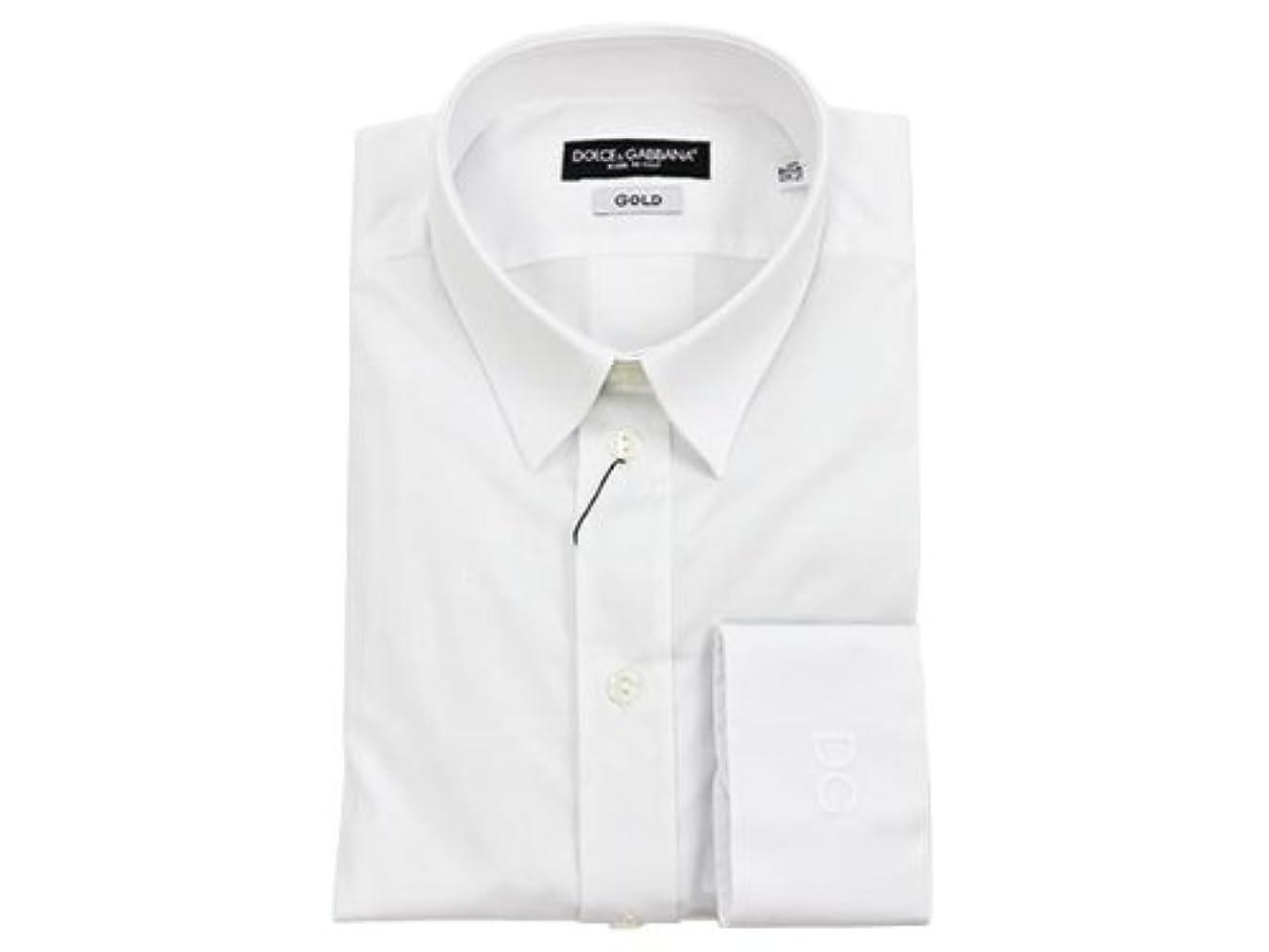 スチュワード階段漂流DOLCE&GABBANA ドルチェ&ガッバーナ カッターシャツ QG5371 25456 80001 ホワイト 41サイズ 並行輸入品   ウェア&シューズ