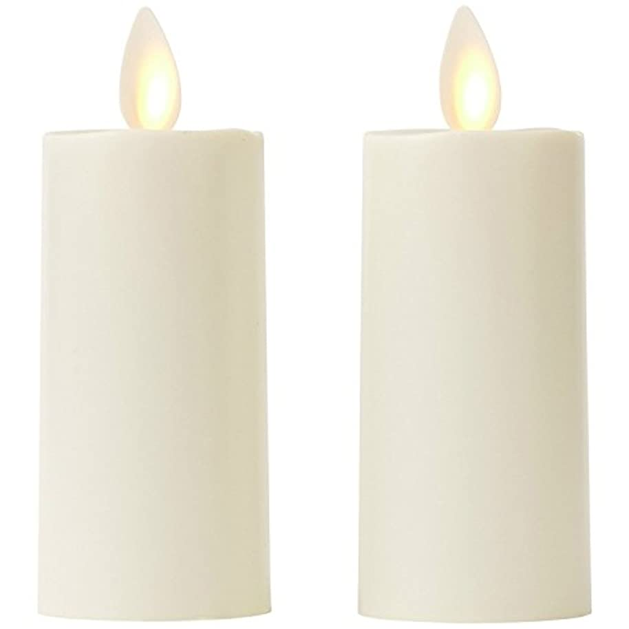 服を着る現実にはほこり(Tealight new) - Set of 2 Luminara Votive Flameless Candles: 4.4cm x 7.6cm Ivory Unscented Moving Flame Candles with Timer