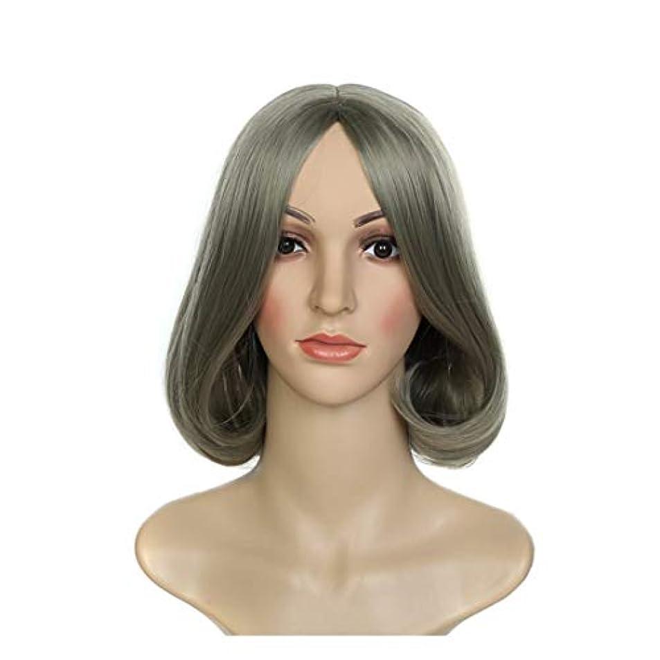 評決からに変化するミキサーYOUQIU ウィッグウィッグコスプレウィッグショートヘアウィッグファッションウィッグレディパーソナリティウィッグ (色 : Photo Color)