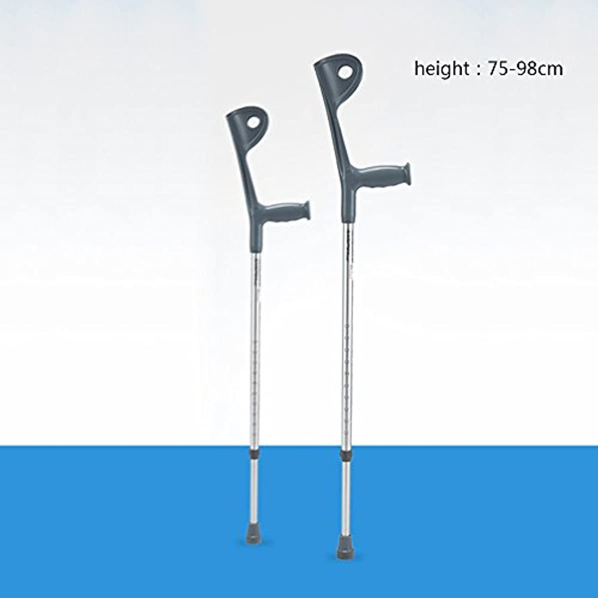 受賞どっちでも先住民家庭の照明- 腕の松葉杖脇の下の歩行杖障害者の歩行杖伸縮自在に調節可能な肘歩く杖のリハビリスティック