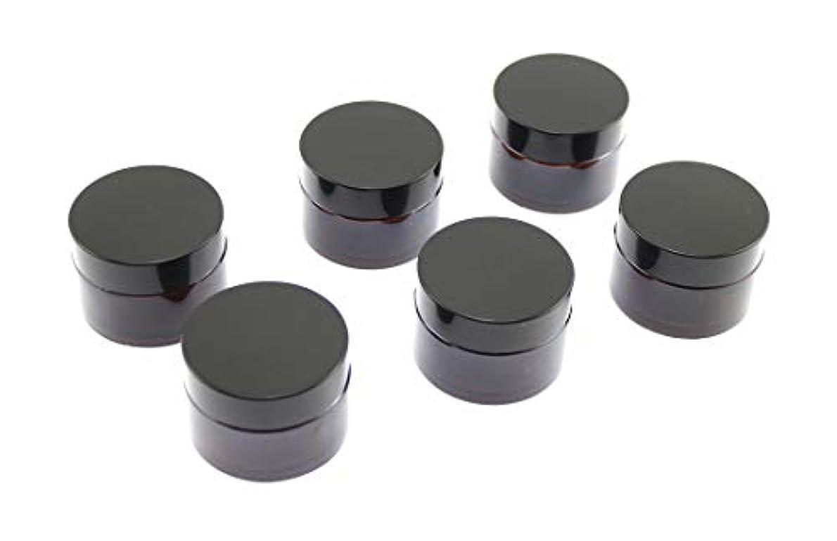 インシュレータ夢不快なOlive-G ハンドクリーム 保存 詰め替え用 ガラス容器 遮光瓶 30g 6個セット BROWN