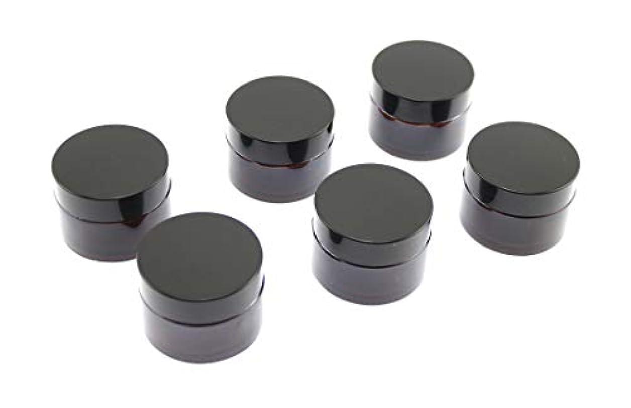 非武装化生き返らせる相談Olive-G ハンドクリーム 保存 詰め替え用 ガラス容器 遮光瓶 30g 6個セット BROWN