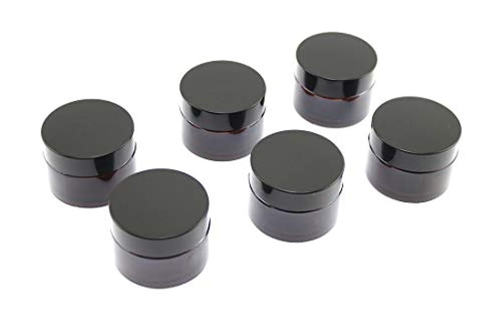 どこ品種なぞらえるOlive-G ハンドクリーム 保存 詰め替え用 ガラス容器 遮光瓶 30g 6個セット BROWN
