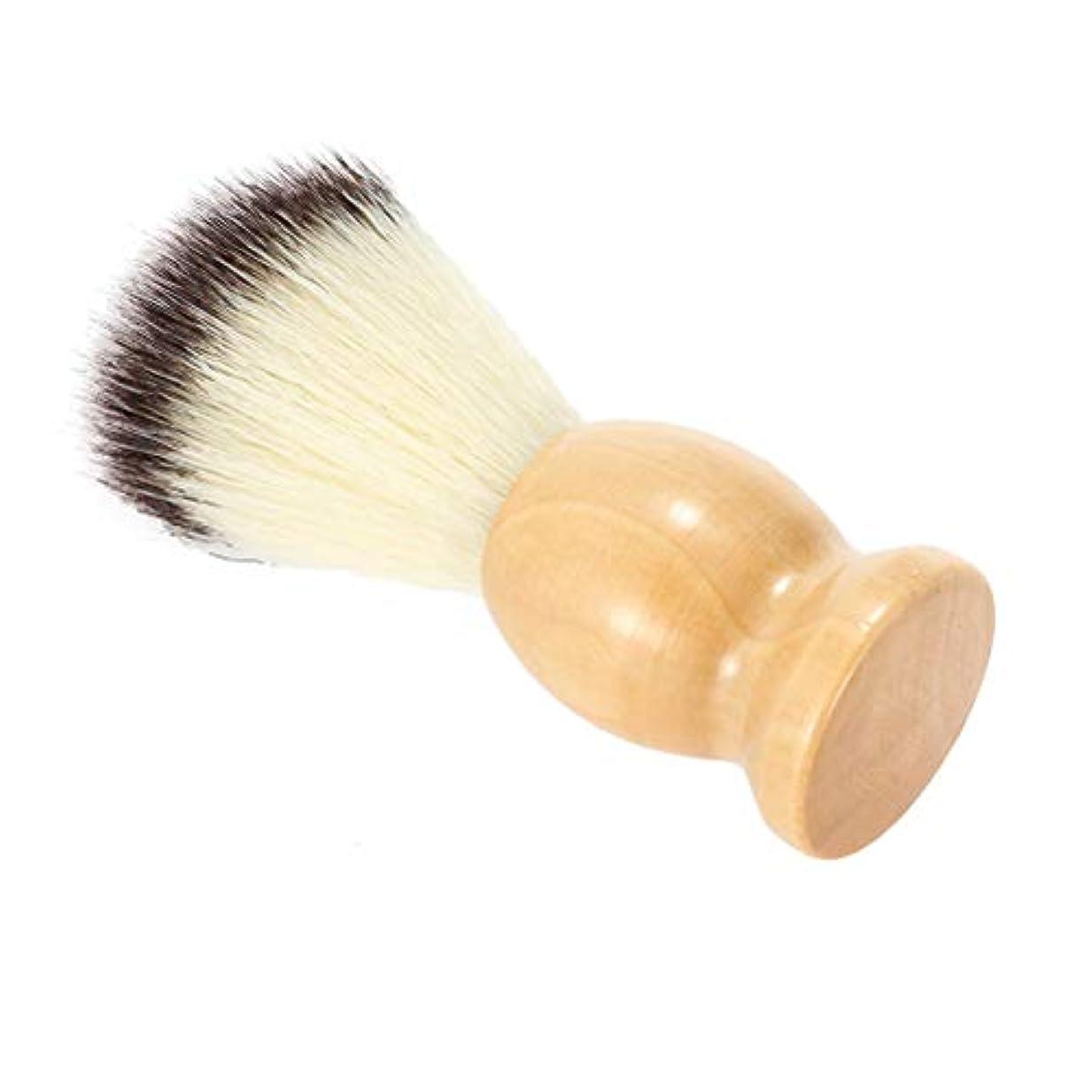 爪チョーク非常に怒っていますLurrose 木製ハンドル付シェービングブラシ理容ブラシかみそりブラシ(カーキ)