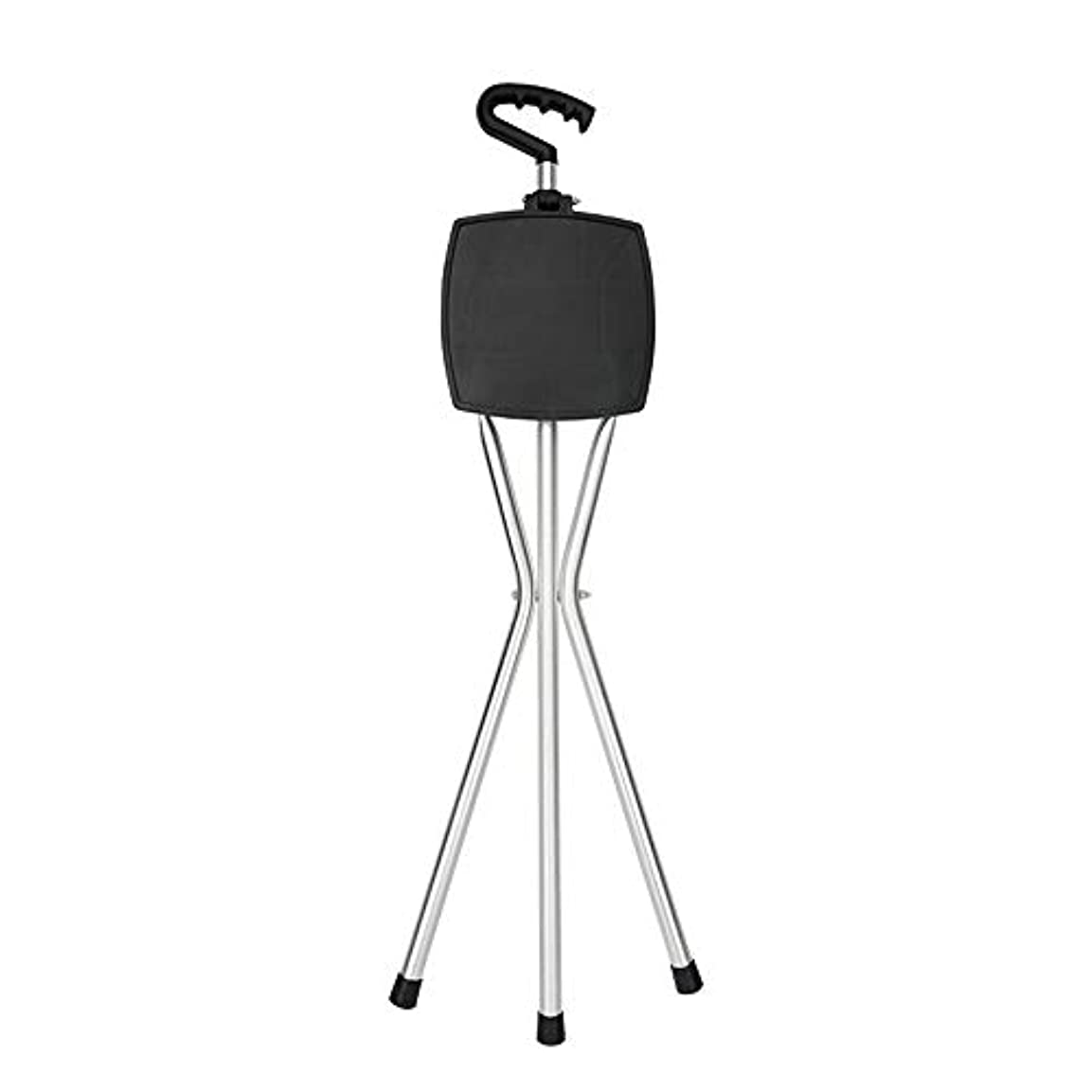楽しい知事ベッドを作るYADANER 椅子になる杖, トレッキングポールアンチスキッドスーパーライト多機能折りたたみ杖高齢者