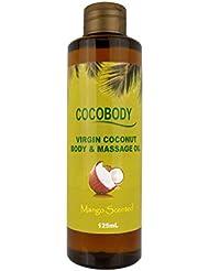 COCOBODY, ココボディ ボディ & マッサージオイル マンゴー 125ml (自然派、ボタニカル) メンズも使える! 【メーカー正規直販品】