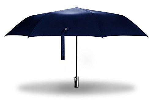 Riorune 折り畳み傘 自動開閉 100cm ワンタッチ 折りたたみ傘 カバー付属 (ネイビータイプA)