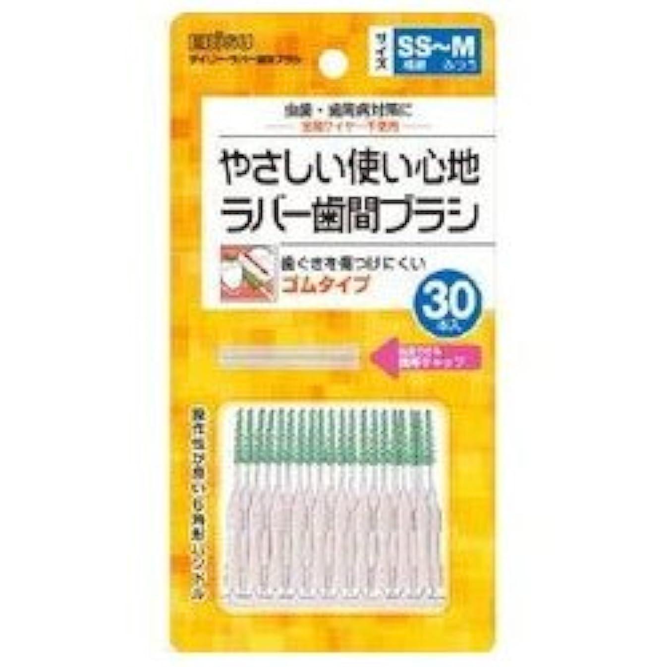 充実住居部門【エビス】デイリーラバー 歯間ブラシ SS~M 30本入 ×5個セット